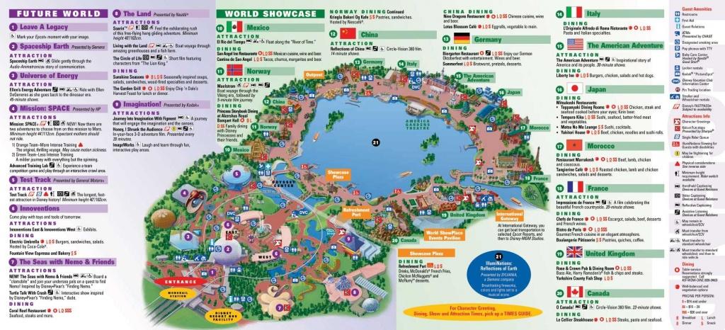 Epcot | Landscape | Epcot Map, Disney Map, Disney World Map - Printable Map Of Epcot 2015