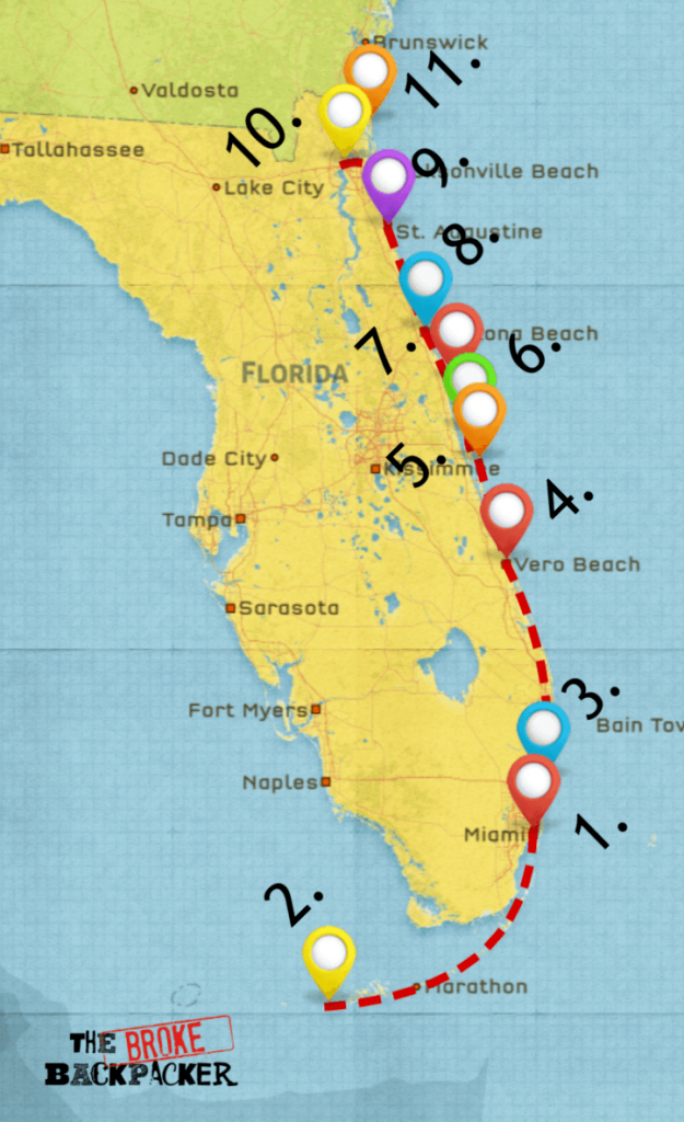 Epic Florida Road Trip Guide For July 2019 - California To Florida Road Trip Map