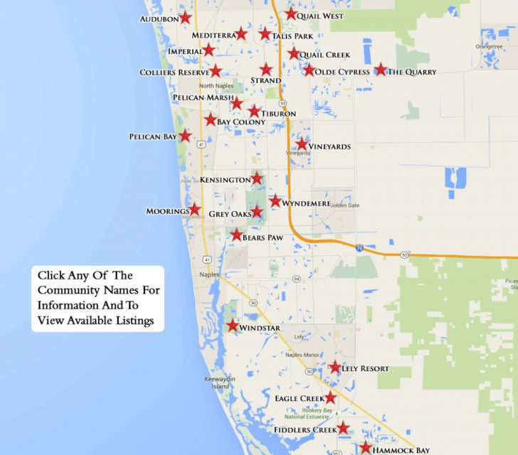Florida Golf Courses Map