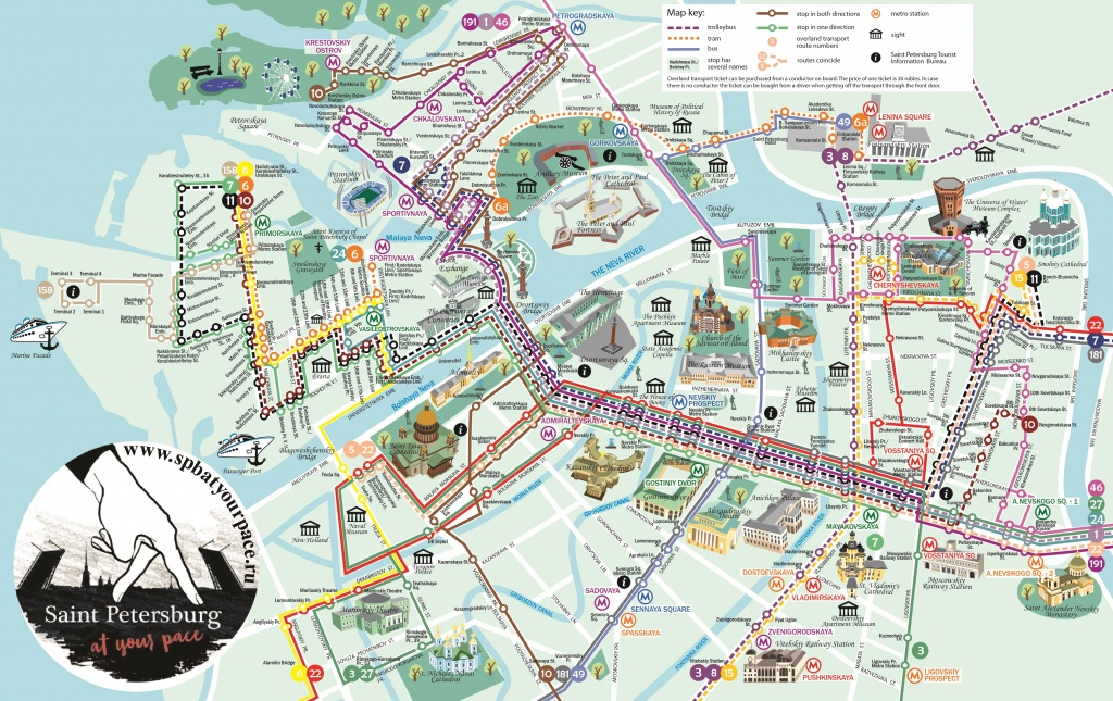 Essential Tourist Maps Of St. Petersburg (Pdf And Jpg) - Printable Tourist Map Of St Petersburg Russia