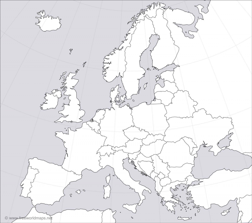 Europe Blank Map - Blank Political Map Of Europe Printable