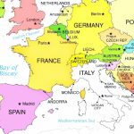 Europe Countries On Printable Map Of With World Maps Within 9 - Printable Map Of Europe With Countries