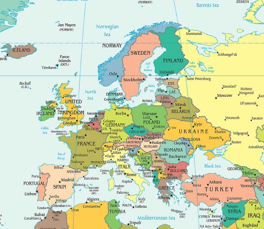 Europe Political Map, Political Map Of Europe - Worldatlas - Printable Political Map Of Europe
