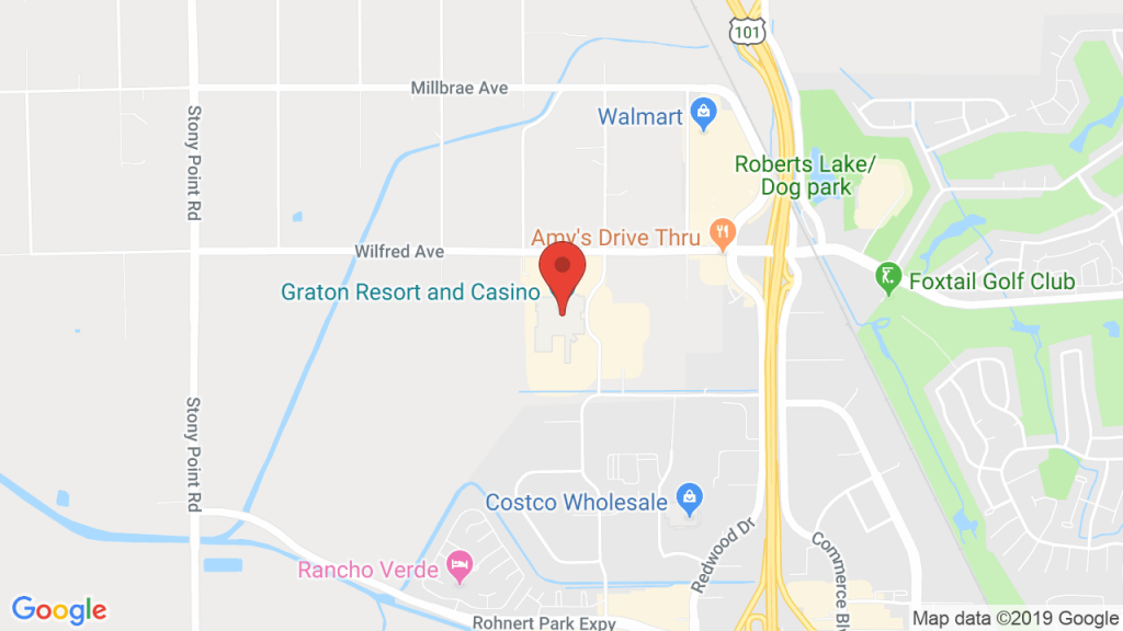 Event Center At Graton Resort & Casino In Rohnert Park, Ca - Graton California Map