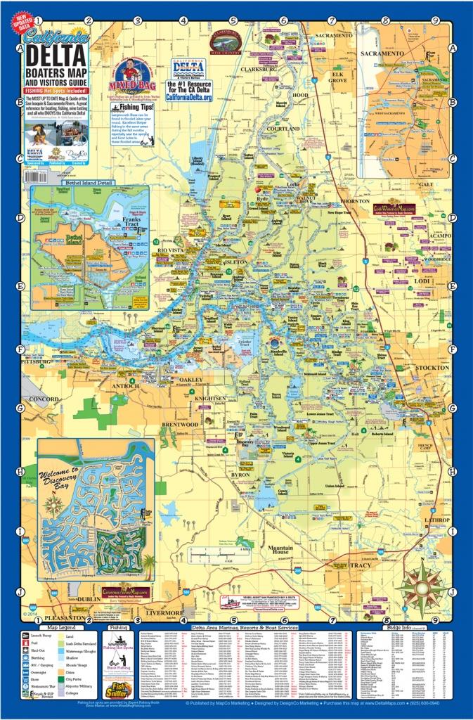 Event Map Design, Cartography, City Maps, Chamber Map Design, Custom - California Delta Map