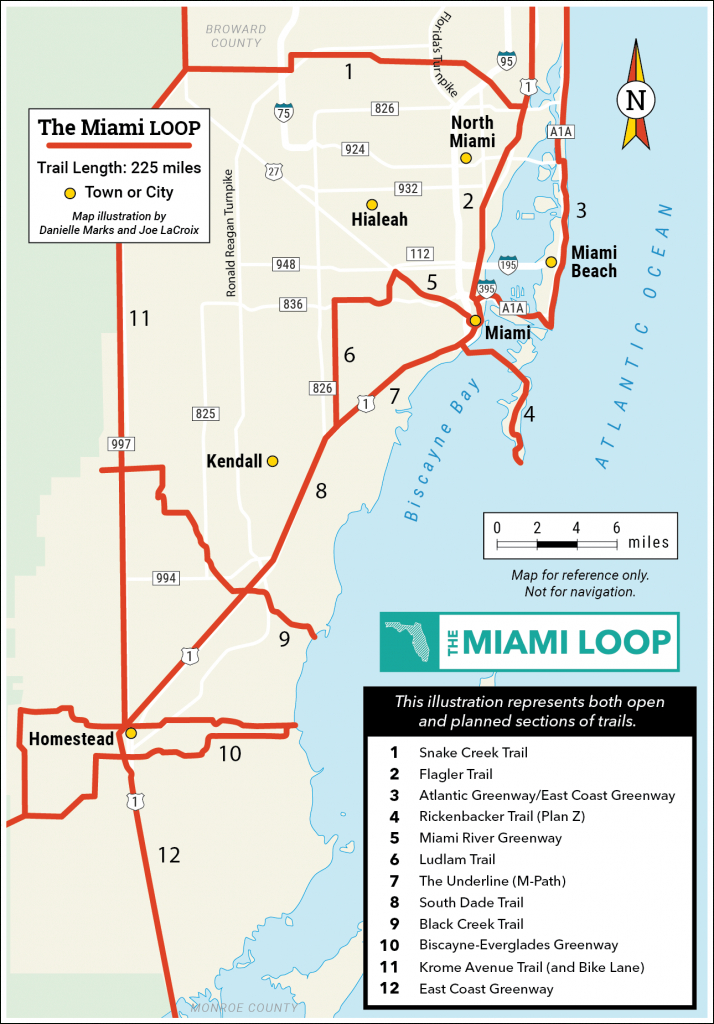 Explore The Loop | Miami Loop | Rails-To-Trails Conservancy - Florida Rails To Trails Maps
