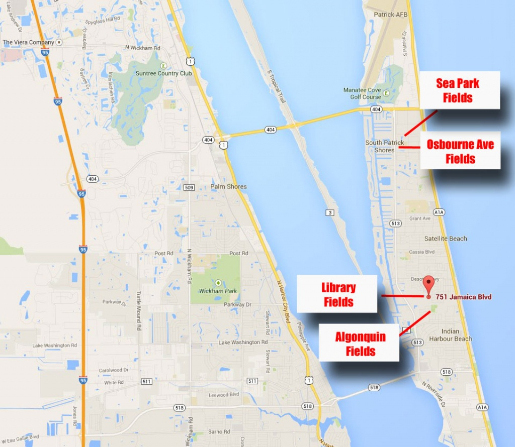 Facilities – Brevard Beachside Soccer Club - Indian Harbor Beach Florida Map