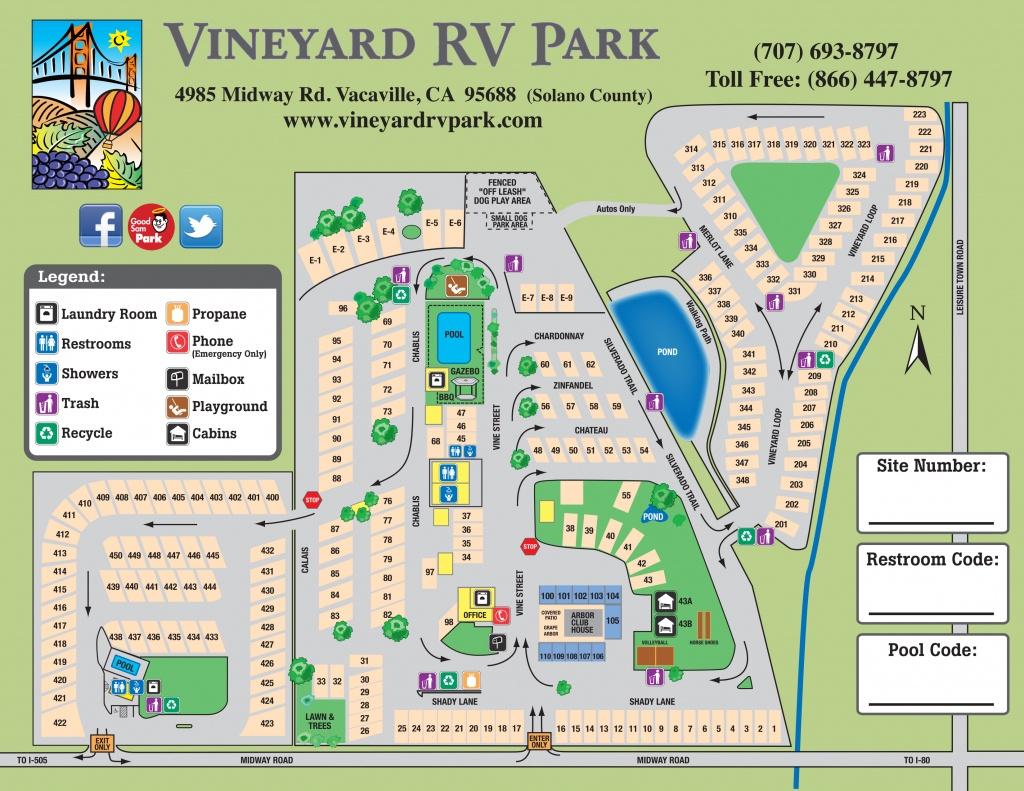 Facility Map – Vineyard Rv Park - California Rv Camping Map