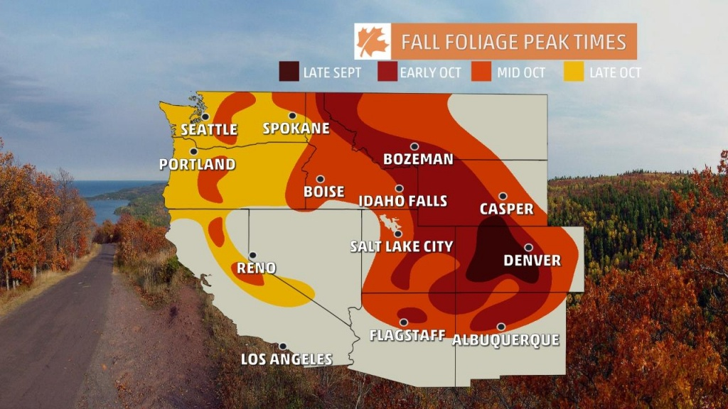 Fall Scenery Drive Autumn Colors Foliage Leaf Leaves Road Map And - California Fall Color Map