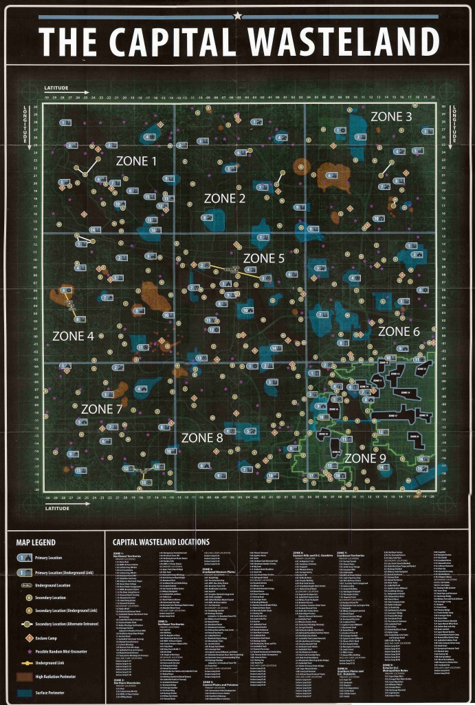 Fallout 3 Map Locations (89+ Images In Collection) Page 1 - Fallout 3 Printable Map