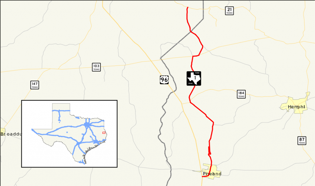 Farm To Market Road 1 - Wikipedia - Texas Farm To Market Roads Map
