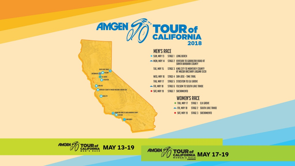 Featured Wallpapers | Amgen Tour Of California - Tour Of California 2018 Map