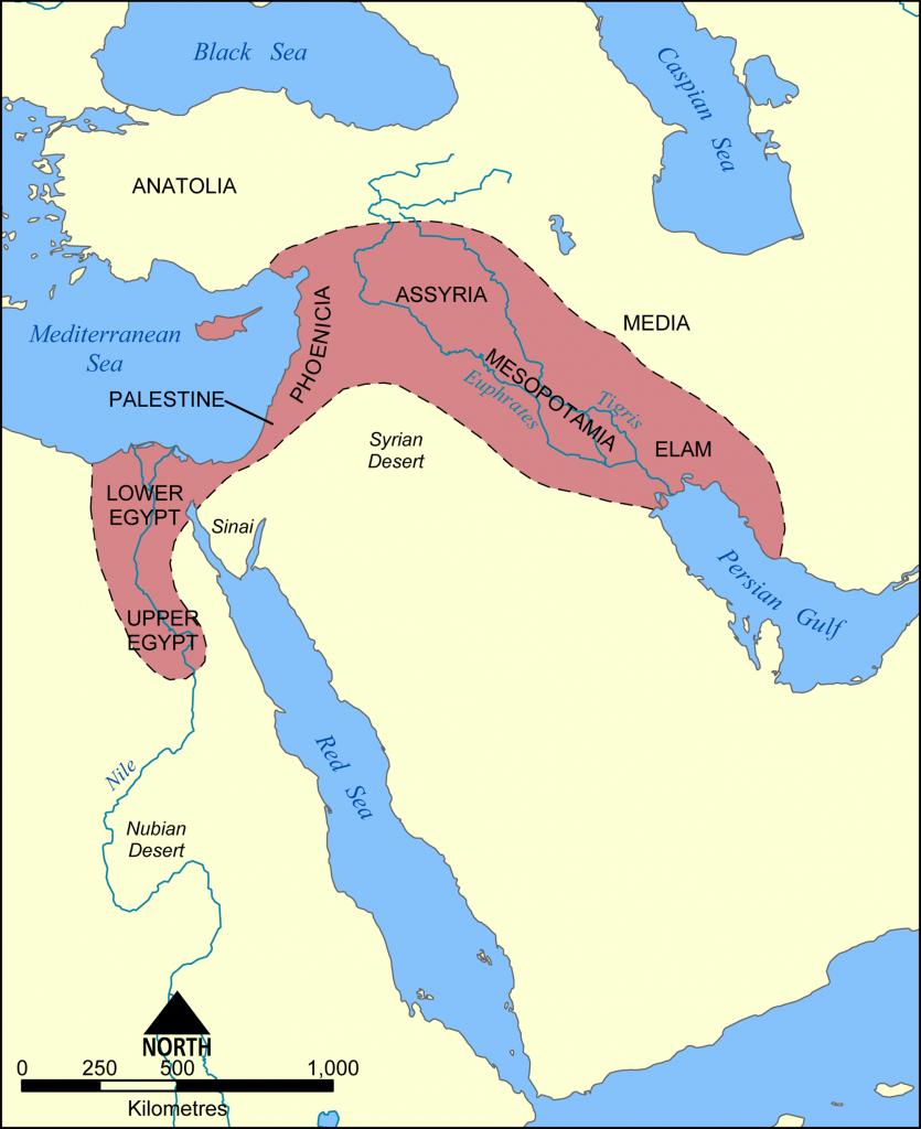 Fertile Crescent Map - Color Week 1 | Cycle 1 Geo | Ancient - Fertile Crescent Map Printable