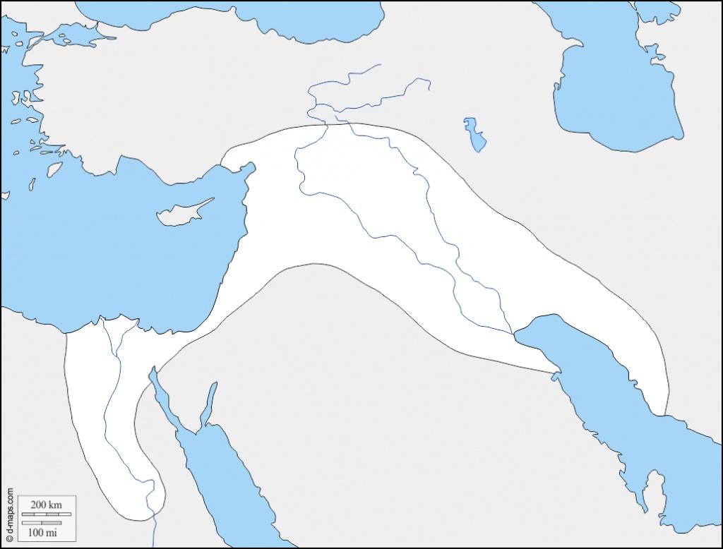 Fertile Crescent Map Printable – Printall - Fertile Crescent Map Printable