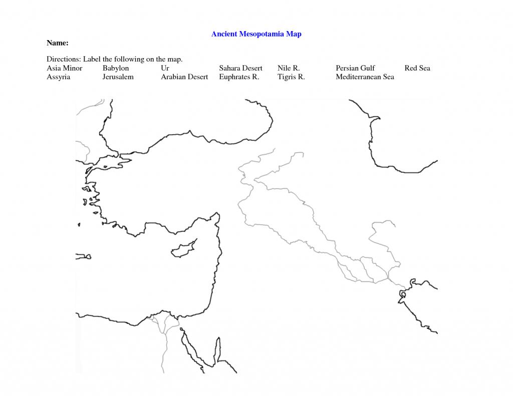 Fertile Crescent Map Worksheet - Google Search | World History 9 - Fertile Crescent Map Printable
