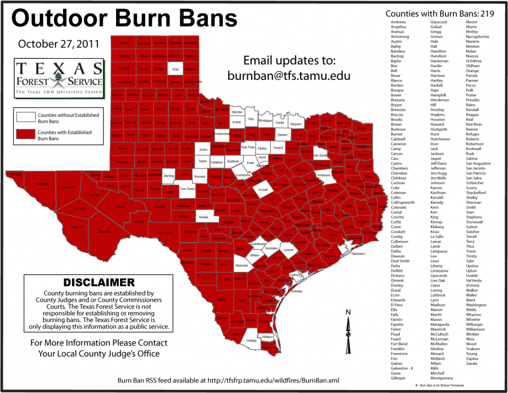Fewer Counties Keeping Burn Bans In Place | Kut - Burn Ban Map Of Texas