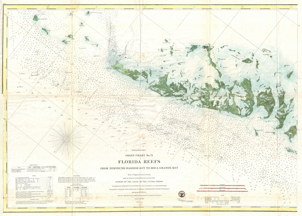 Fichier:1859 U.s. Coast Survey Map Or Nautical Chart Of The Florida - Florida Keys Marine Map