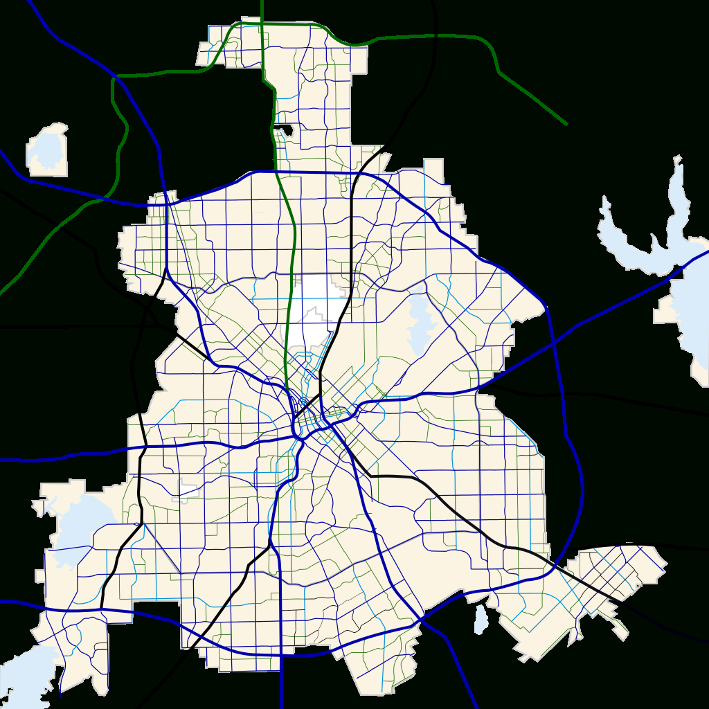 Fichier:dallas, Texas Road Map.svg — Wikipédia - Dallas Texas Highway Map