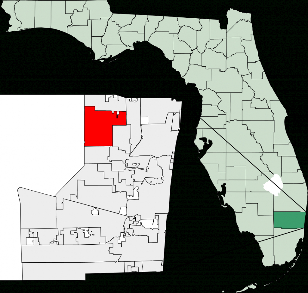 Fichier:map Of Florida Highlighting Coral Springs.svg — Wikipédia - Coral Springs Florida Map