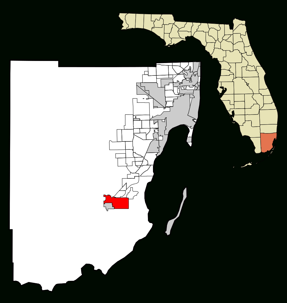 Fichier:miami-Dade County Florida Incorporated And Unincorporated - Homestead Florida Map