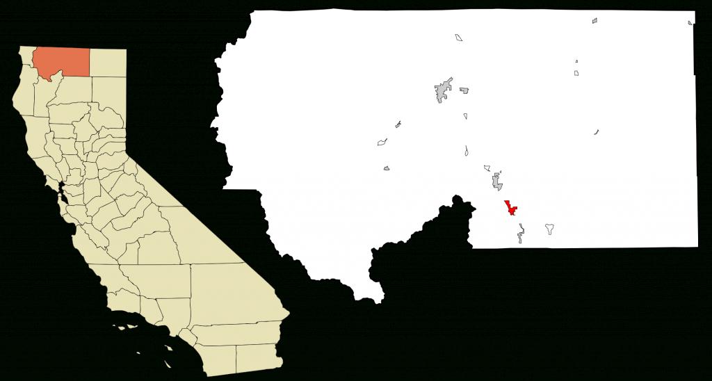 Fichier:siskiyou County California Incorporated And Unincorporated - Mount Shasta California Map