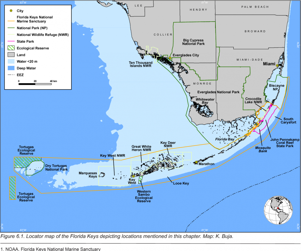 Figure 6.1 From The State Of Coral Reef Ecosystems Of The Florida - Coral Reefs In Florida Map