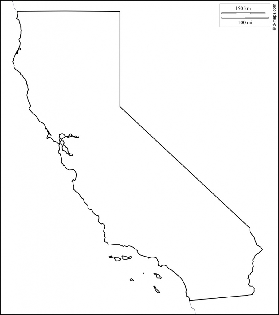 File California Counties Outline Maps Of California Blank Map Of - Blank Map Of California Printable