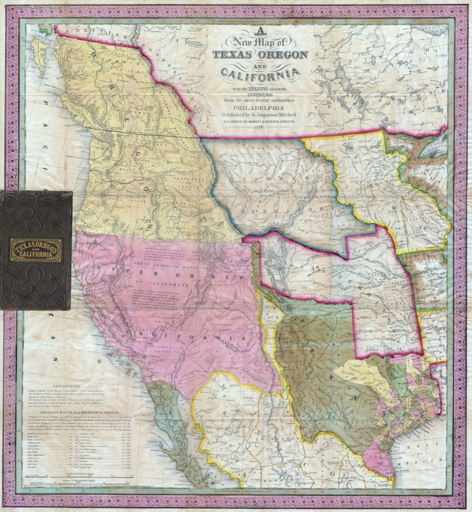 File:1846 Mitchell's Map Of Texas Oregon And California - Texas Map 1846