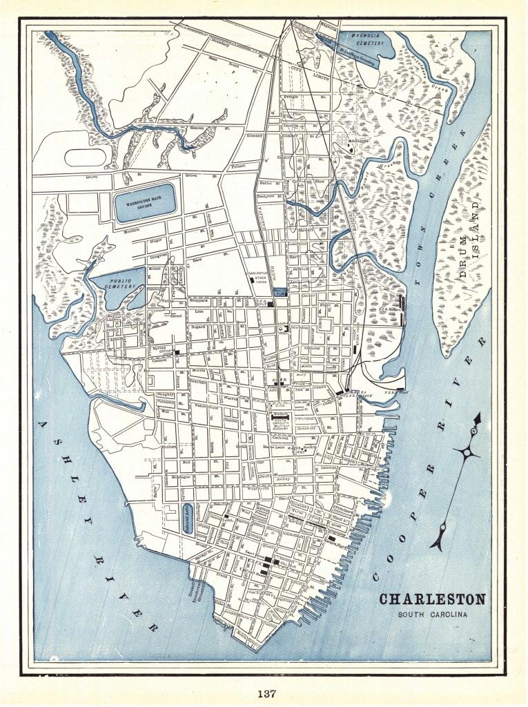 File:1898 Map Of Charleston, South Carolina - Wikimedia Commons - Printable Map Of Charleston Sc