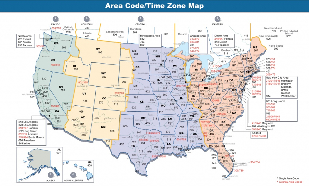 Us Area Code Map Printable – Printable Maps