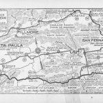File:automobile Road From Los Angeles To San Francisco Via Coast - Aaa California Map