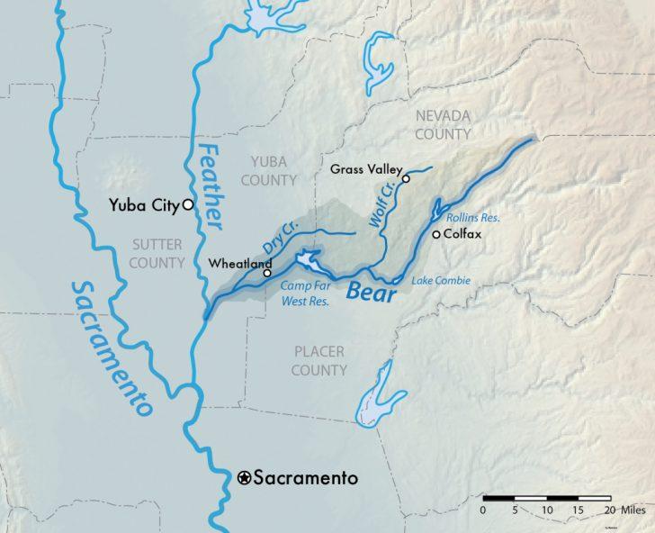 California Rivers Map