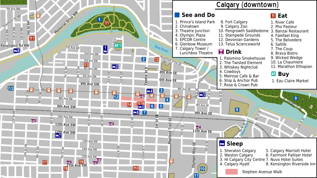 File:calgary Downtown Map - Wikimedia Commons - Printable Map Of Downtown Calgary