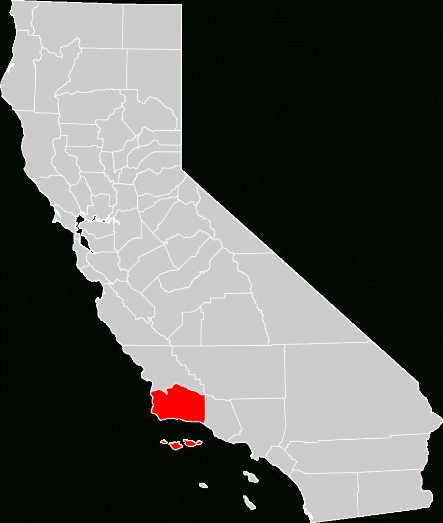 File:california County Map (Santa Barbara County Highlighted).svg - Santa Barbara California Map
