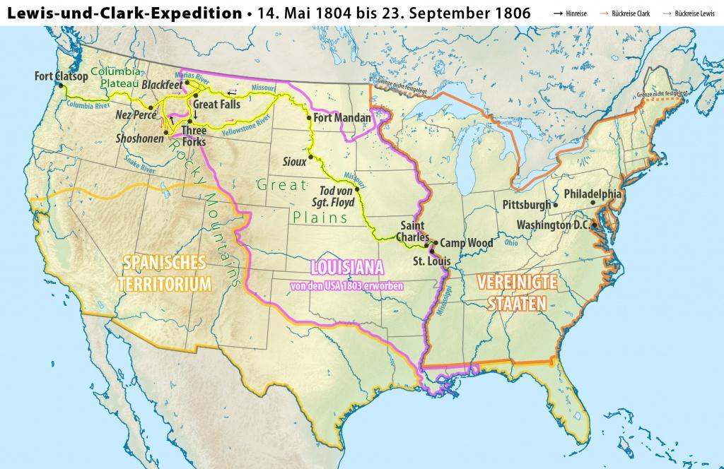 File:karte Lewis-Und-Clark-Expedition - Wikimedia Commons - Lewis And Clark Expedition Map Printable