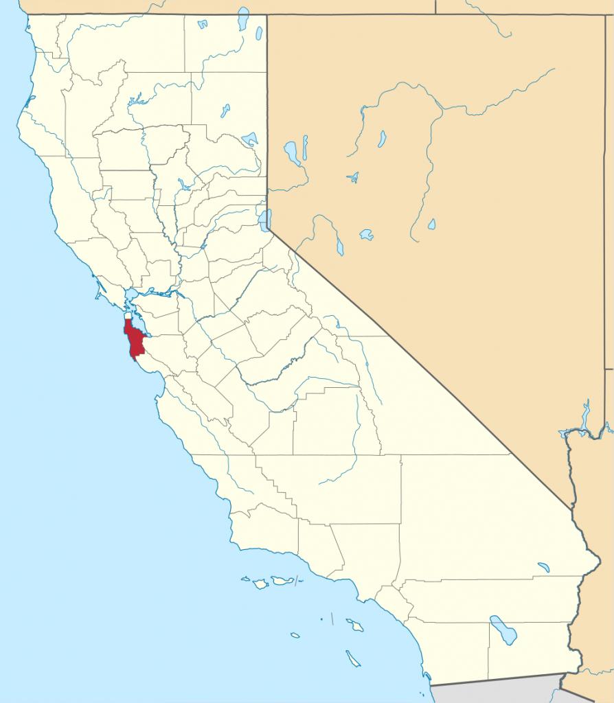 File:map Of California Highlighting San Mateo County.svg - Wikipedia - San Mateo California Map
