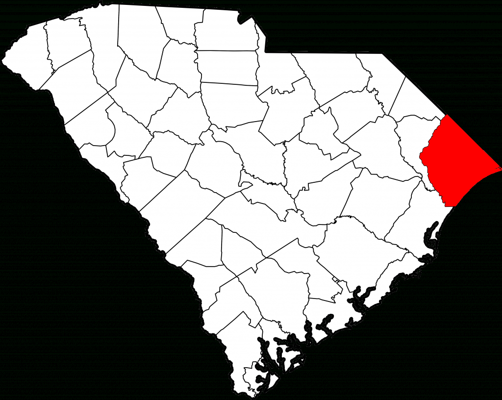 File:map Of South Carolina Highlighting Horry County.svg - Wikipedia - Myrtle Beach Florida Map
