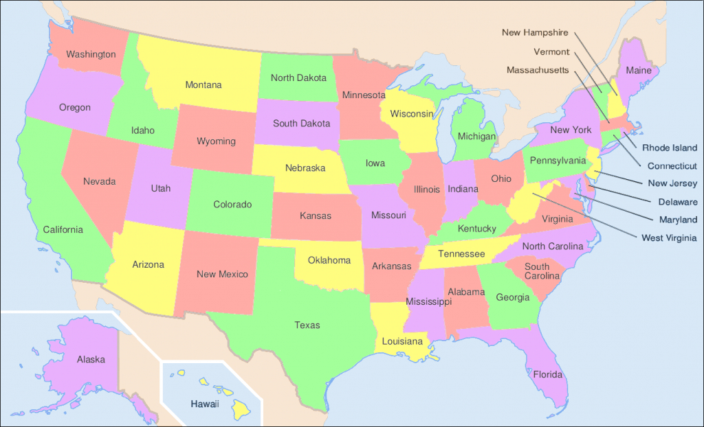 File:map Of Usa Showing State Names - Wikimedia Commons - Free Printable United States Map With State Names