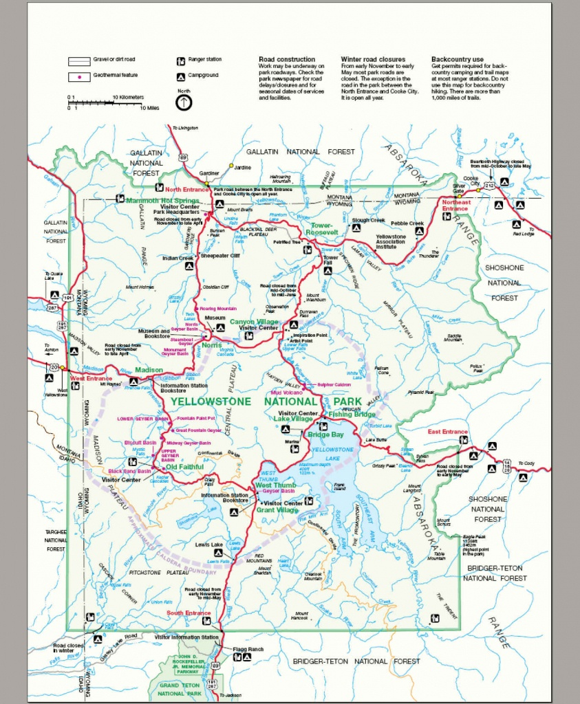 File:map Yellowstone National Park - Wikimedia Commons - Printable Map Of Yellowstone National Park