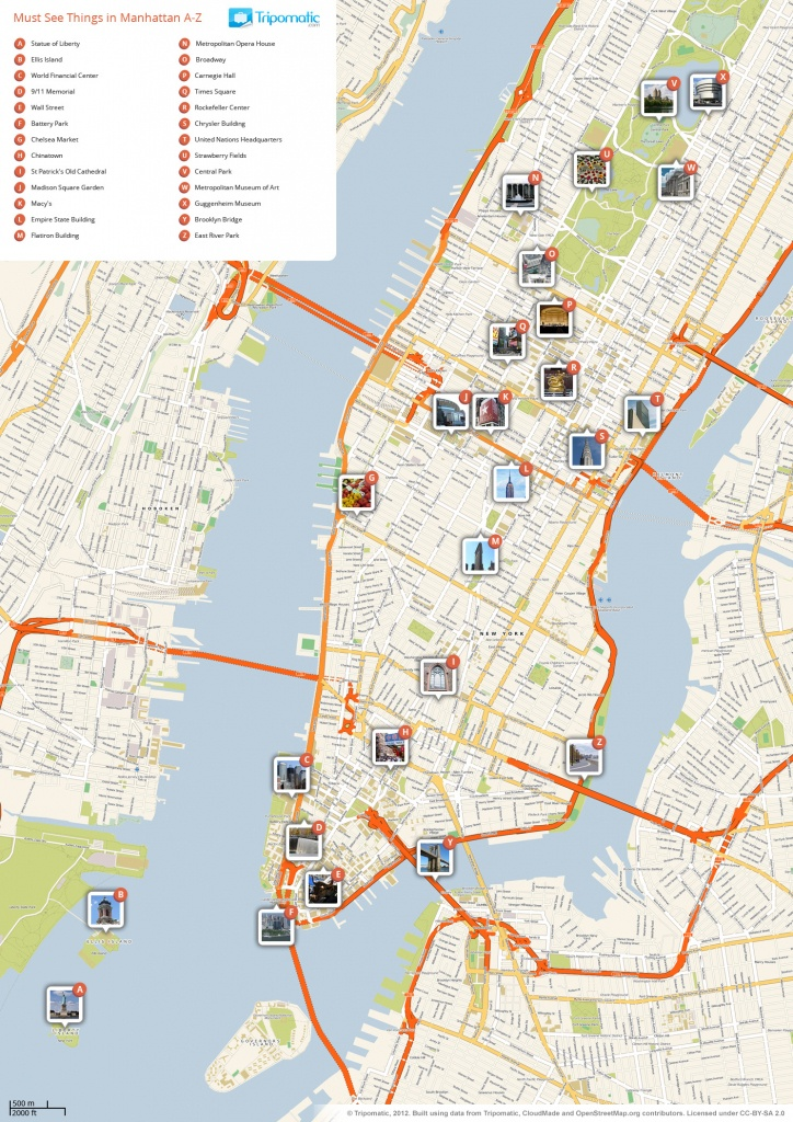 File:new York Manhattan Printable Tourist Attractions Map - New York City Street Map Printable
