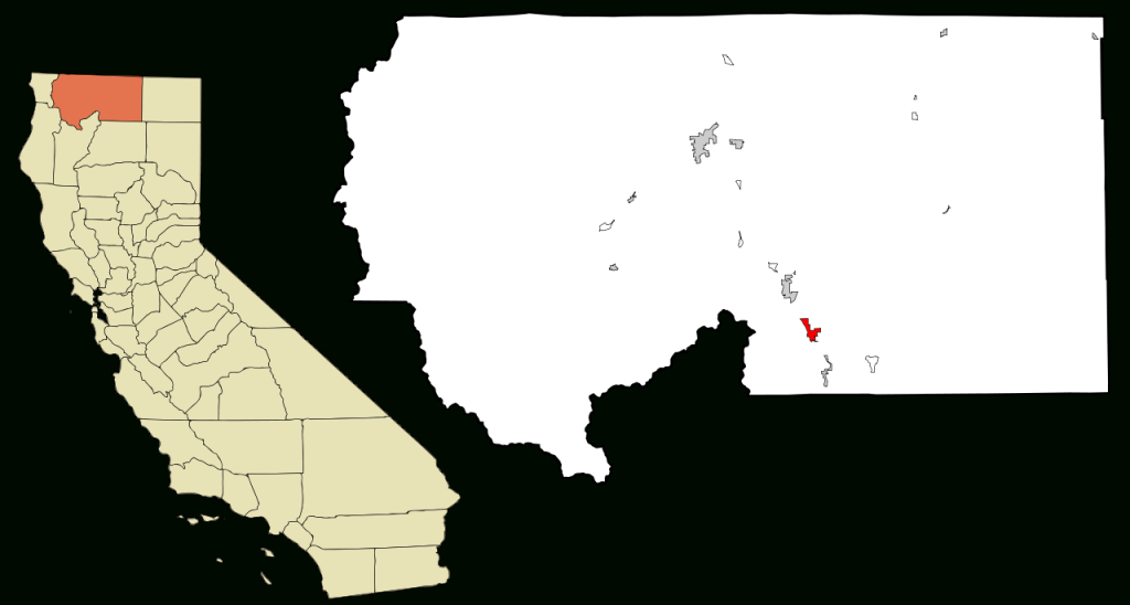 File:siskiyou County California Incorporated And Unincorporated - Mount Shasta California Map