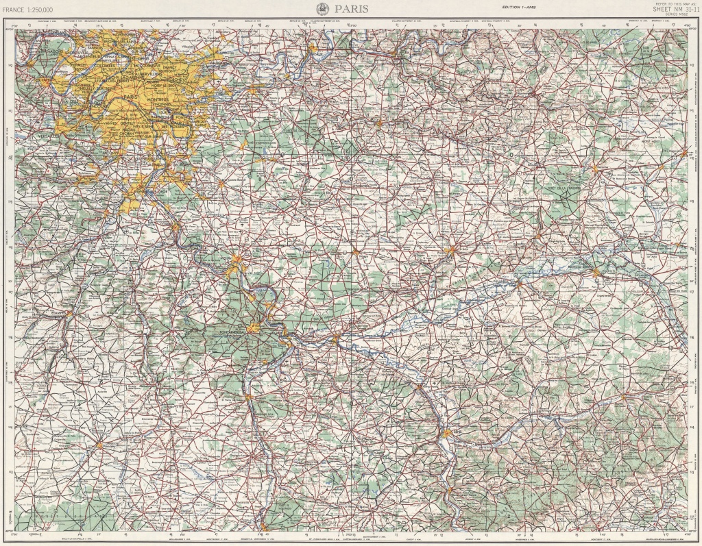 File:u.s. Army Map Service, Paris 1954 - The University Of Texas At - Paris Texas Map