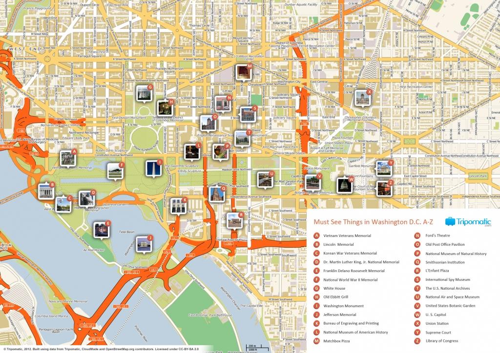 File:washington Dc Printable Tourist Attractions Map - Wikimedia - Printable Map Of Dc