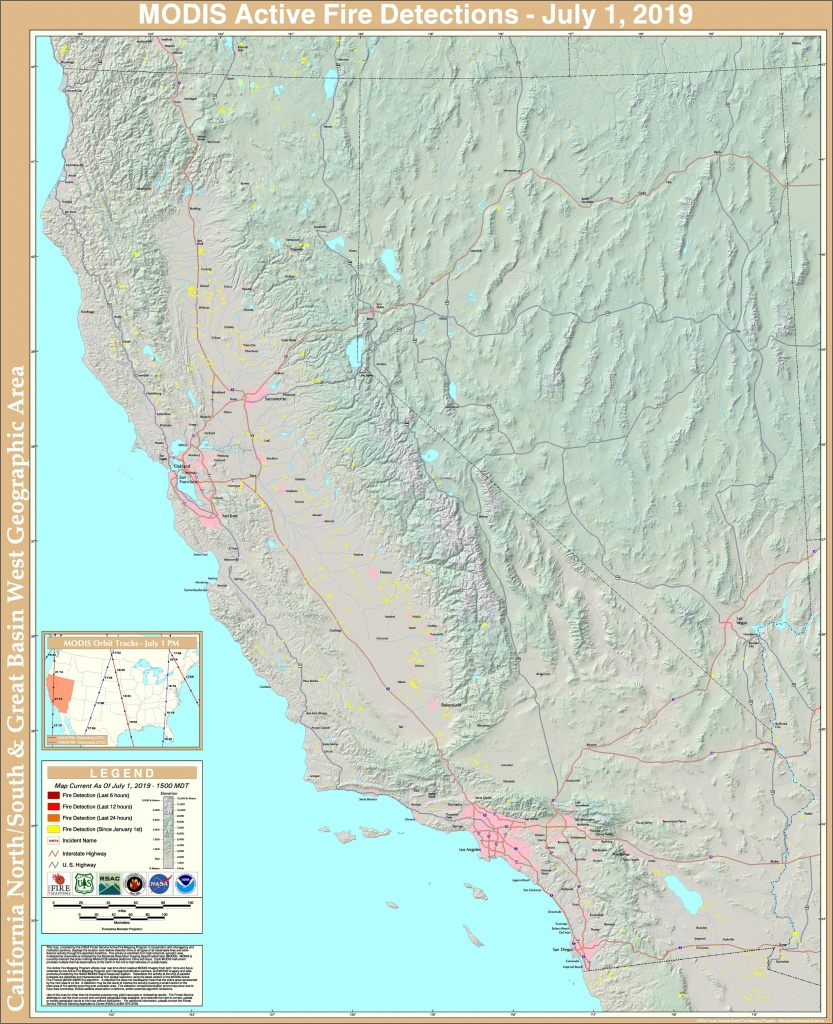Fire Detection Maps - California Active Wildfire Map
