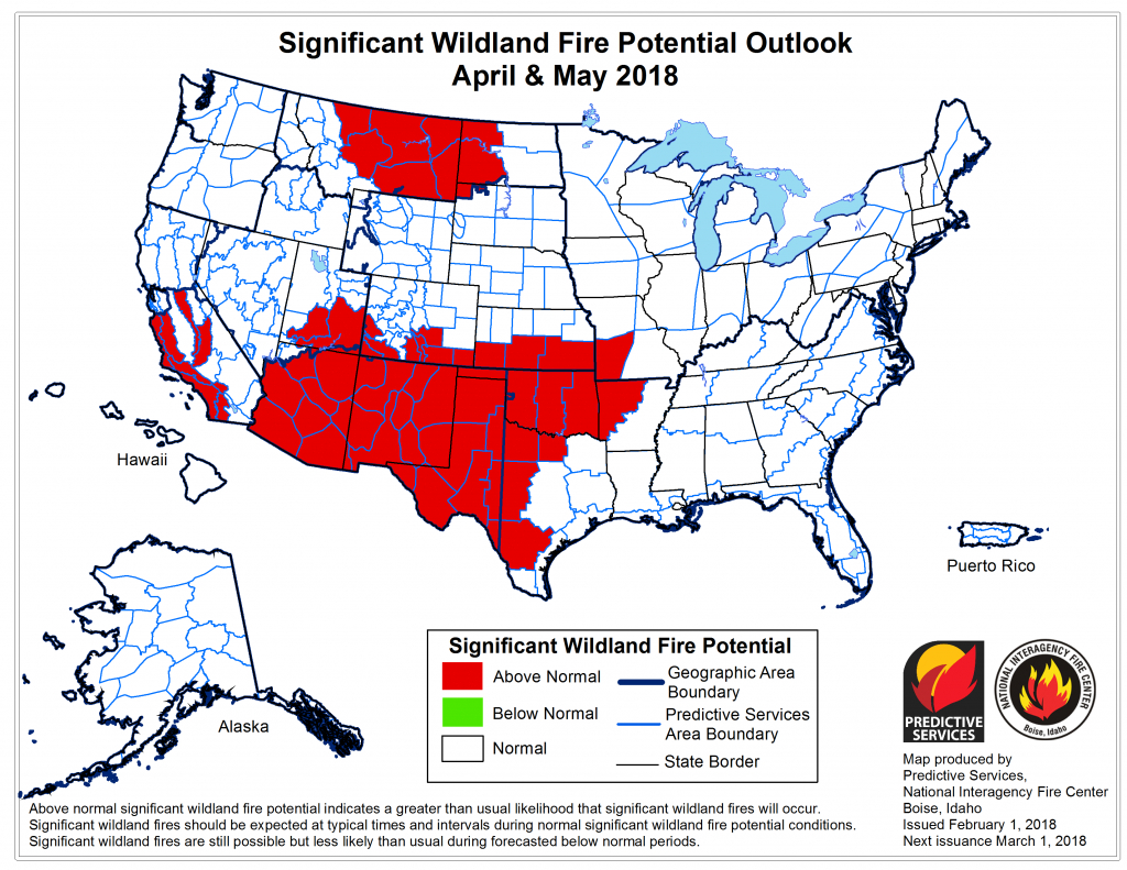 Fire Weather - Current Texas Wildfires Map