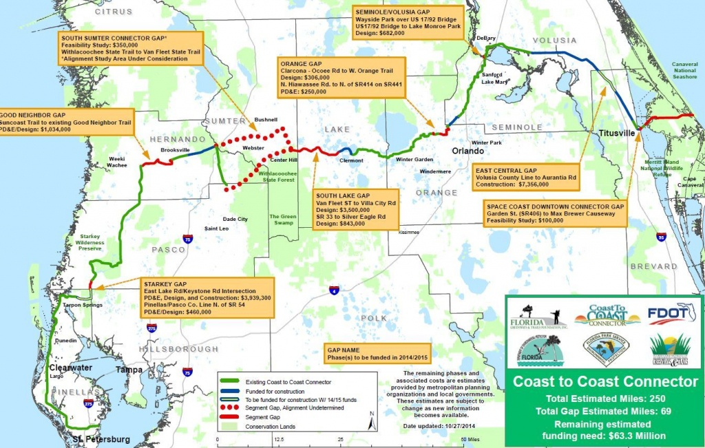 First Completed Segment Of Coast-To-Coast Trail Opens In Pinellas - Pinellas Trail Map Florida