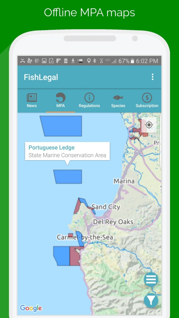 Fishlegal, California Fishing Regulations & Maps For Android - Apk - California Fishing Regulations Map
