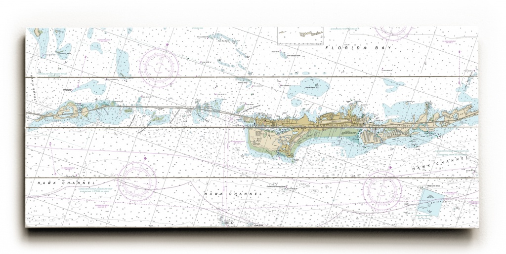 Fl: Grassy Key To Bahia Honda Key, Fl Nautical Chart Sign - Florida Keys Nautical Map