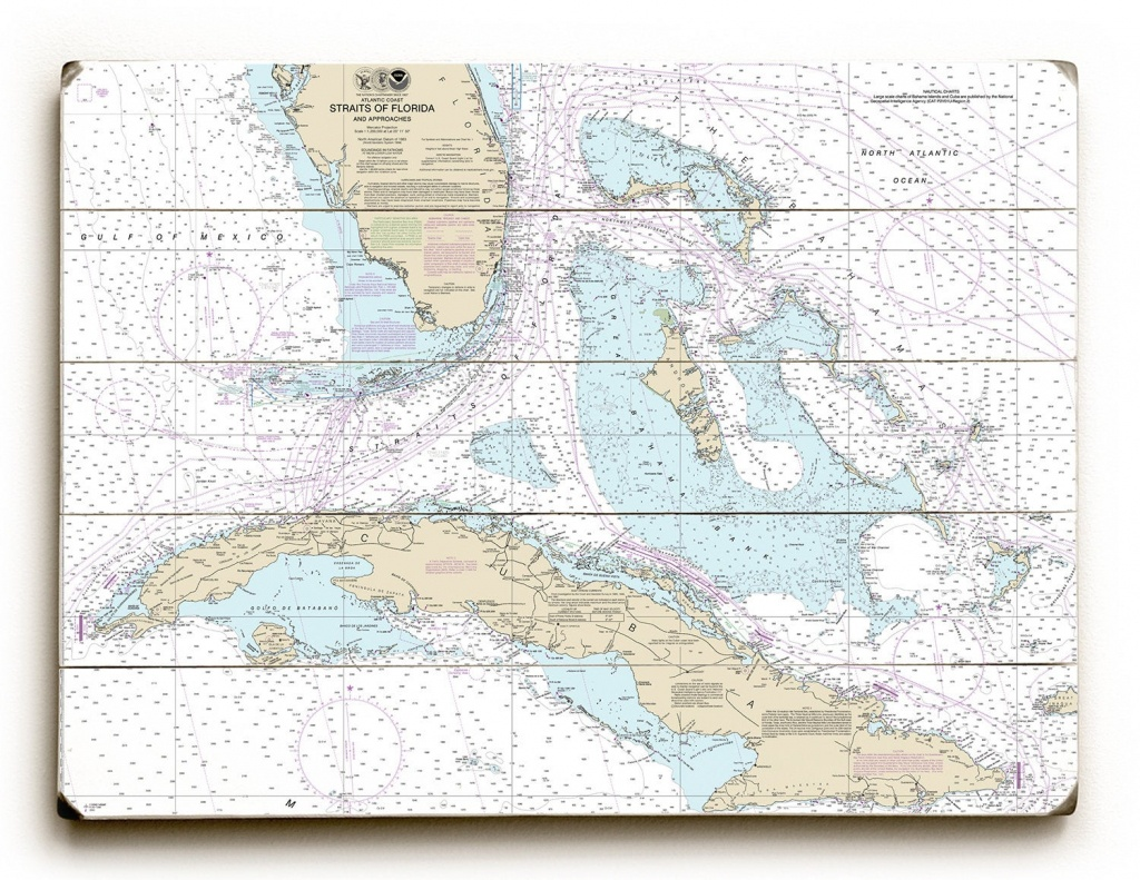 Fl: Straits Of Florida Nautical Chart Sign, Florida Map Wall Art, Florida  Wall Sign, Straits Of Florida Map Wall Art - Casey Key Florida Map
