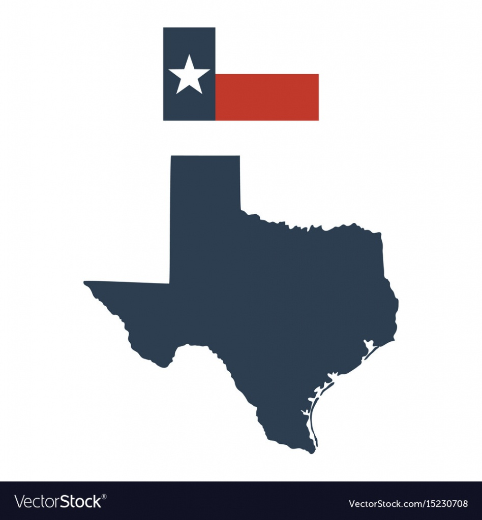 Flag Of The Us State Of Texas And Map Royalty Free Vector - Texas Map Vector Free